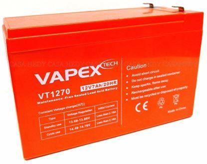 Imagen de BATERIA VAPEX VT1270 GEL p/UPS  12v  7Amp