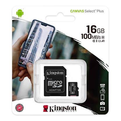 Imagen de MicroSD 16 GB  KINGSTON  Clase 10 Select Plus (100Mb/s)