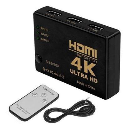 Imagen de SWITCH HDMi  3 IN a 1  ULTRA HD (4K)